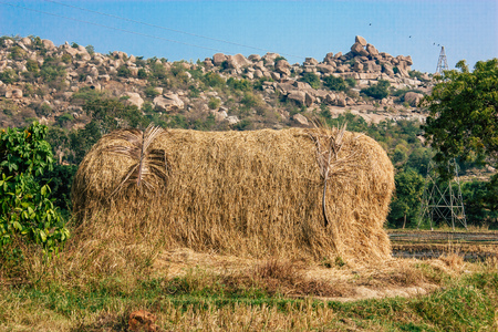 Landscape and nature around Hampi in Karnataka southern India