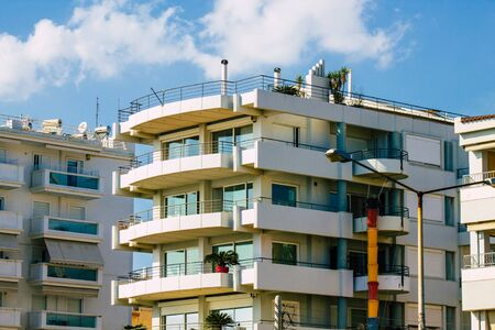 Athens Greece September 7, 2019 View of modern buildings located at the beach front of the city of Athens in the afternoon Stockfoto