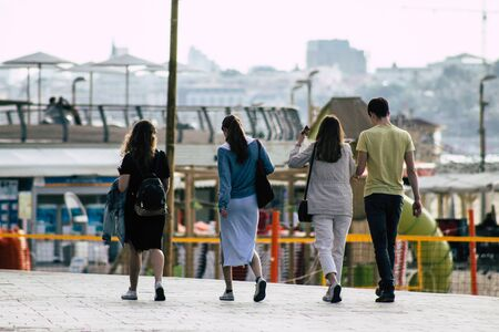 Tel Aviv Israel December 04, 2019 View of unknowns people walking in the streets of Tel Aviv in the afternoon