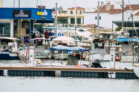 Limassol Cyprus March 13, 2020 View of boats moored in the marina of Limassol in the afternoon