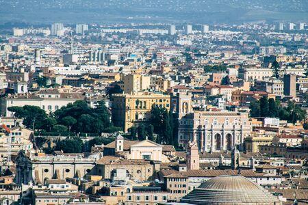 Vatican City Italy October 18, 2019 Cityscape of Rome from the St Peter's Basilica, located in the Vatican City in the afternoon