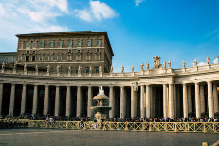Vatican City, Italy October 18, 2019 View of historical building at St Peter's Square in Vatican City in the afternoon