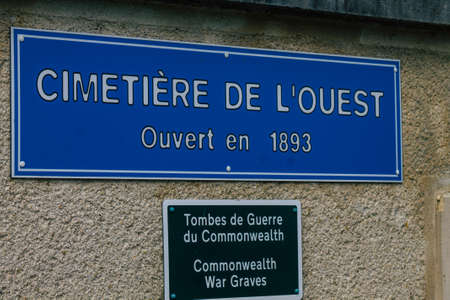 Reims France March 03, 2021 Cemetery of the city of Reims during the coronavirus epidemic hitting France