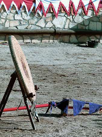Antique bulls eye at a medieval fair in Hita, Guadalajara (La Mancha, Spain). It's a sunny day before the joust Banco de Imagens - 154229497