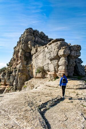 amazing eroded rock formations found on a day out in Torcal, Spain