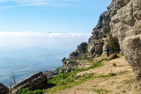 amazing views into the valleys of Sierra Nevada from the mountain peaks at Torcal, Spain Imagens