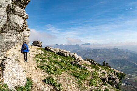 a view into the valleys around Sierra Nevada from the peaks of Torcal