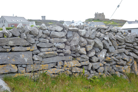 co: Co Galway , Ireland June 2017, The Aran Islands,A wall Made of Stones