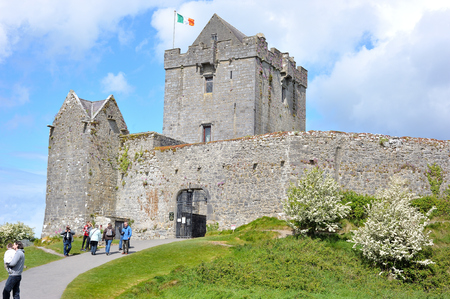Dungory East, Kinvarra, Co. Galway, Ireland June 2017,Dunguaire Castle entrance. Editorial