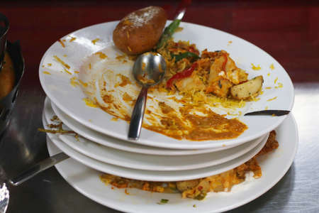 food wastage, mostly seeing in hotels and party events Reklamní fotografie