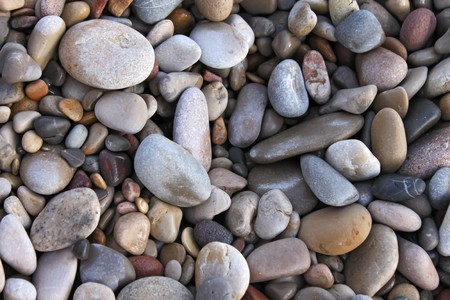 Stones at the beach photo