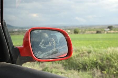 cau: Reflection mirror car
