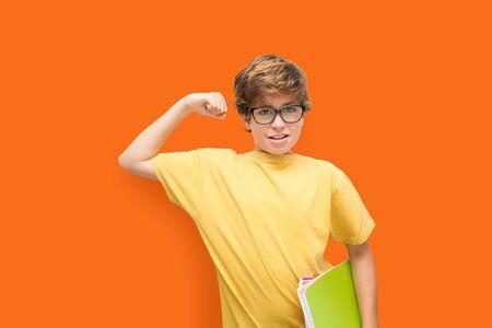 Boy succeeds in studies