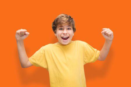 Child victorious and very successful Zdjęcie Seryjne