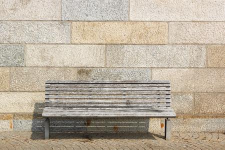 lonesomeness: street bench view Stock Photo