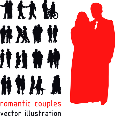 girlfriend: Romantic couples silhouettes