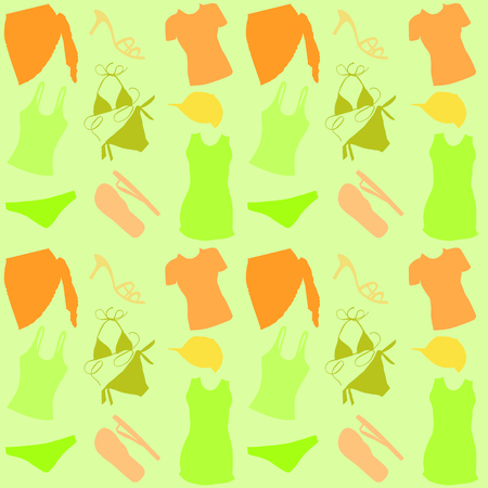 beach wrap: Seamless clothes background.