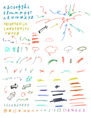 tachado: Conjunto de signos gr�ficos. Vectores