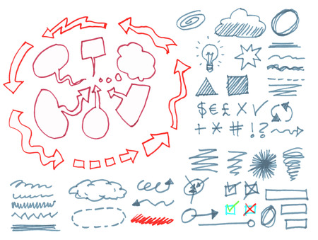 Set of graphic signs. Illustration