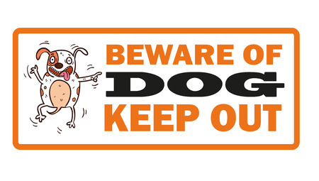 beware of the dog: Beware of dog vector