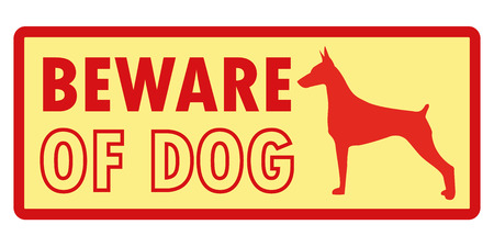 beware dog: Beware of dog poster vector