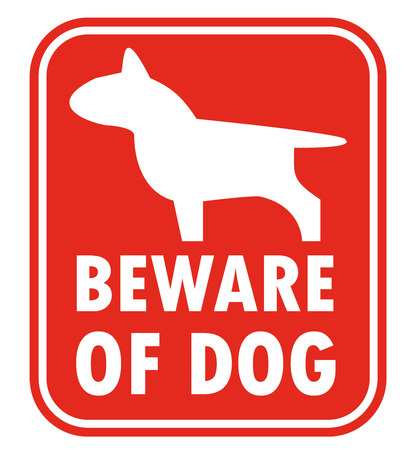 beware dog: Beware of dog vector