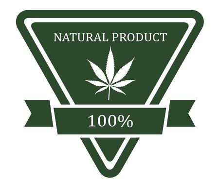 medicinal marijuana: Set of medicinal marijuana label Illustration