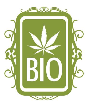 medicinal: Set of medicinal marijuana label Illustration