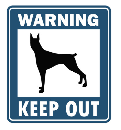 beware dog: Beware of dog vector collection