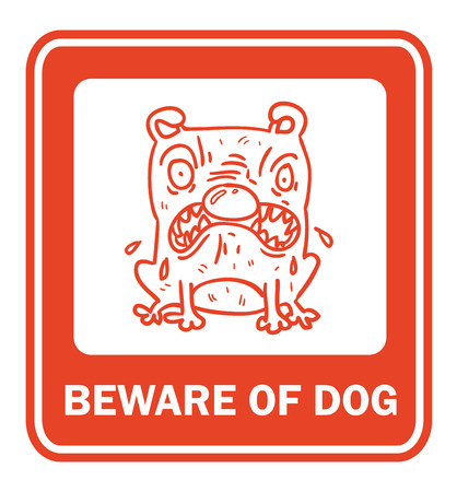 beware of the dog: Beware of dog vector collection