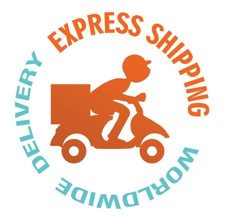 delivery badges. Stock Illustratie