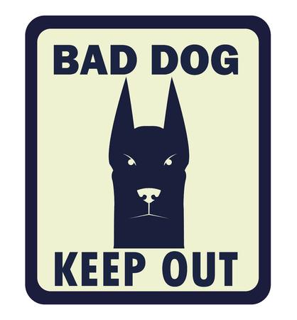 Voorzichtig zijn van hond vector