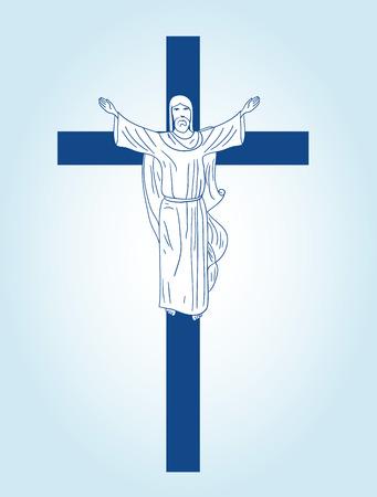 representations: Christian sign. Illustration