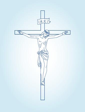 roman catholic: Christian sign. Illustration