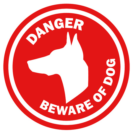 beware: Beware of dog vector