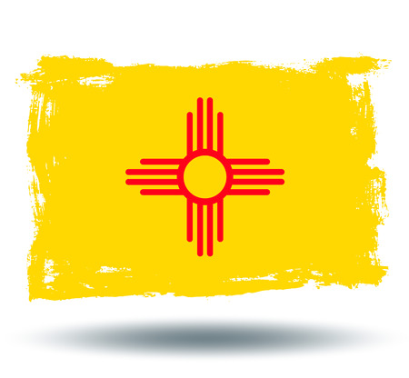 illustrated globes: Flag of new mexico state