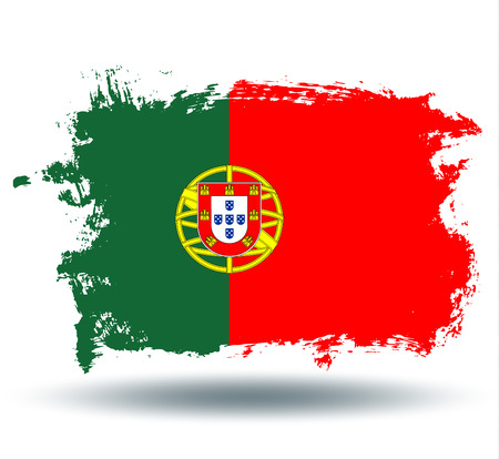illustrated globes: flag of Portugal