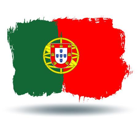 illustrated globes: Flag of Portugal Illustration