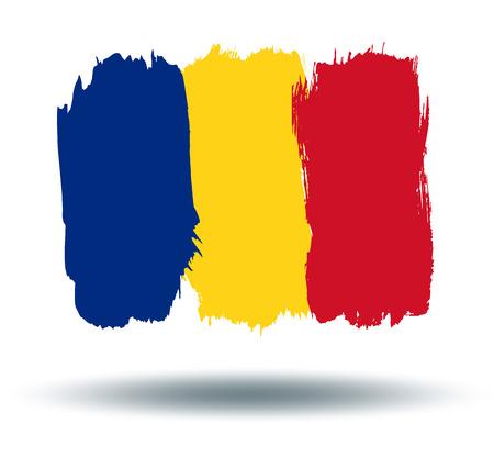 illustrated globe: Flag of Romania