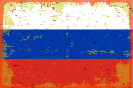 illustrated globe: Flag of Russia