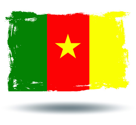 cameroon: Flag of cameroon Illustration