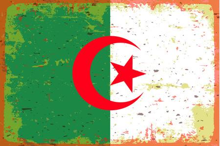 illustrated globes: Flag of Algeria Illustration