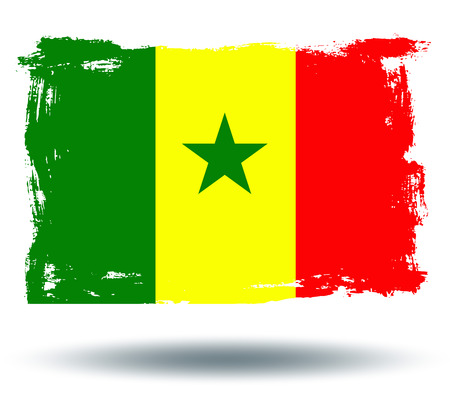 illustrated globes: Flag of Senegal