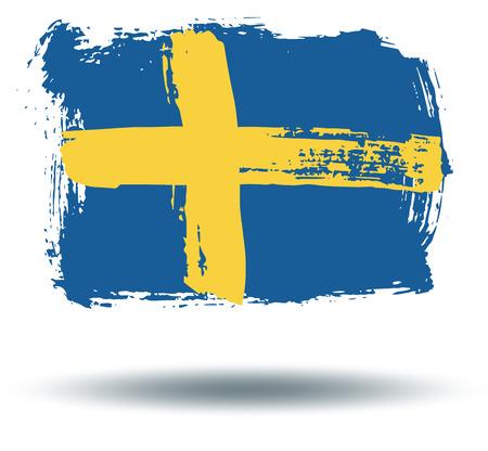 illustrated globes: Flag of Sweden