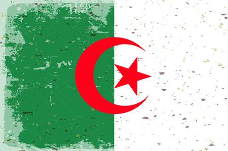 algeria: Flag of Algeria Illustration