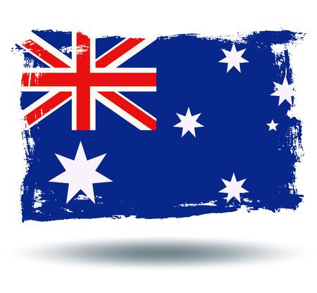 Bandera de Australia Foto de archivo - 43201433