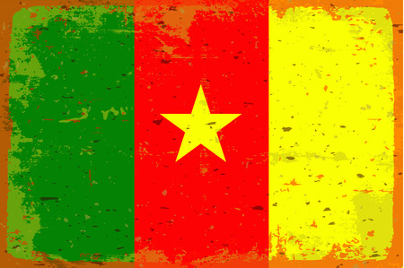 cameroon: Flag of cameroon Vettoriali