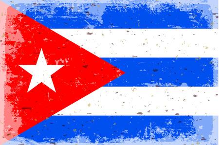 illustrated globe: Flag of Cuba
