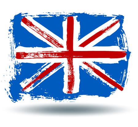 illustrated globes: Flag of England Illustration