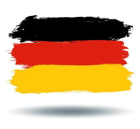 illustrated globes: Flag of Germany